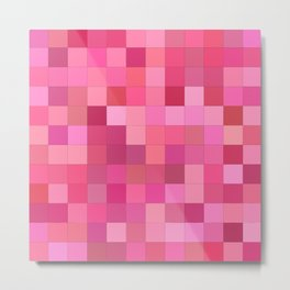 Girly squares Metal Print