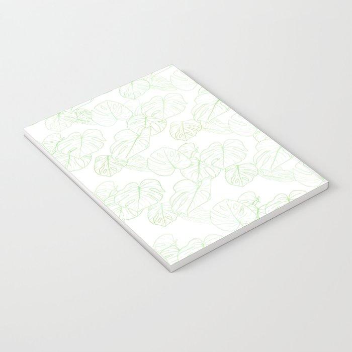 Monstera (White Glow) - Mint Notebook