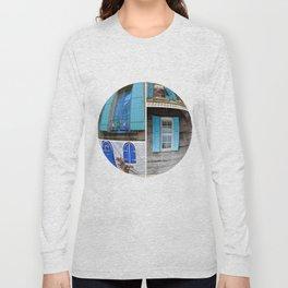 Blue Shutters at Work Long Sleeve T-shirt