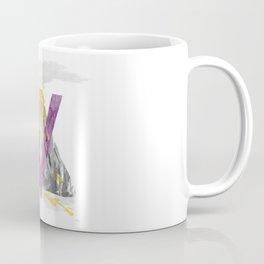 V is for Volcano - Letter V Monogram Coffee Mug