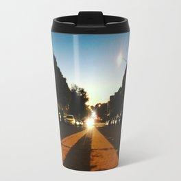 Double Yellow Travel Mug