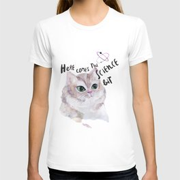 Science Cat T-shirt