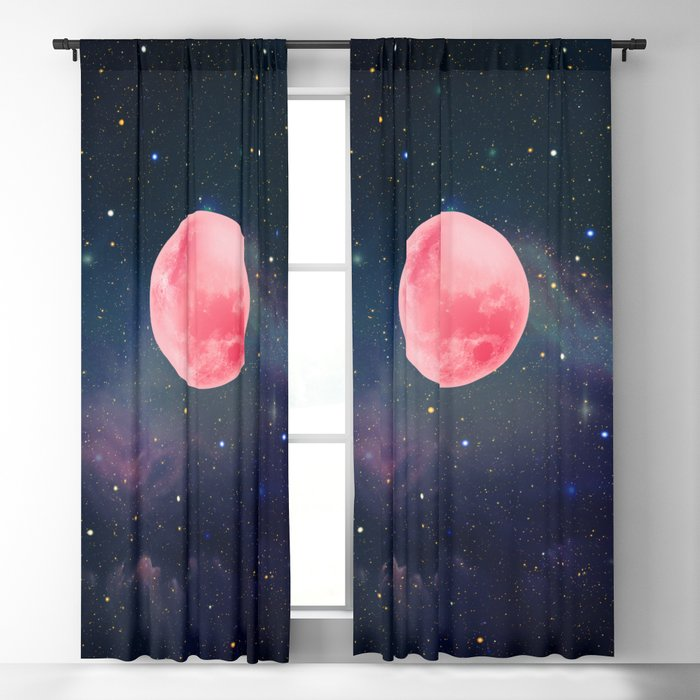 Pink Moon Blackout Curtain