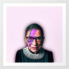 Ruth Bader Ginsburg Starman Art Print