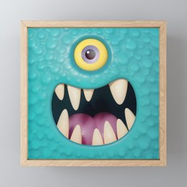Cartoony monster face Framed Mini Art Print