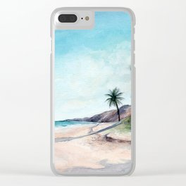Tropical Heat Clear iPhone Case