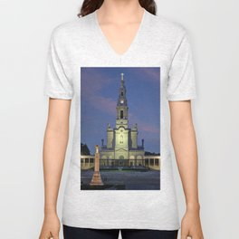 The Basilica of Fatima Unisex V-Neck