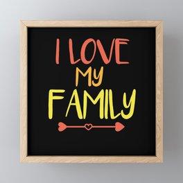 Saying Family Love Framed Mini Art Print