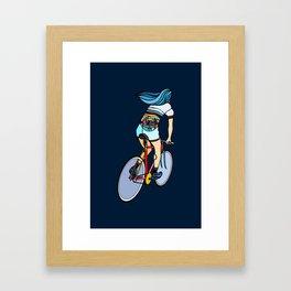 Fixie Girl Framed Art Print