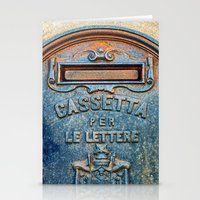 italian Stationery Cards featuring Italian mailbox by Silvia Ganora