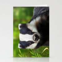 badger Stationery Cards featuring Badger by Julie Hoddinott