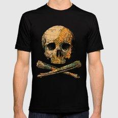 Treasure Map Skull Wanderlust Europe Mens Fitted Tee X-LARGE Black