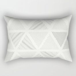 Triangle Hatching Pattern Rectangular Pillow