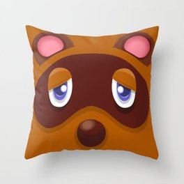 Animal Crossing Tom Nook Throw Pillow