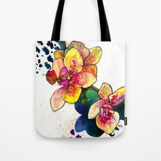 Inky Orchid Tote Bag