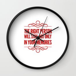 The Right People Wall Clock