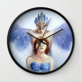 Bluebird and Florine Wall Clock