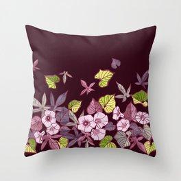 Sweet Potato Floral Border Throw Pillow
