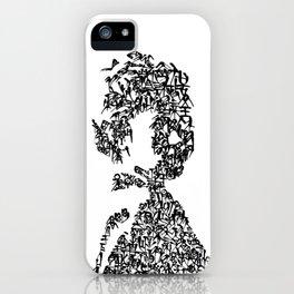 Kanji Calligraphy Art :woman's face#12 iPhone Case
