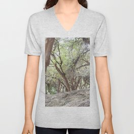 Perspective of Sacsayhuaman trees Unisex V-Neck