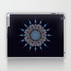 Sphinx Moth Pattern In Blue Laptop & iPad Skin