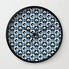 Circles within a Circle - Blue/Grey Wall Clock