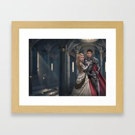 Red Rope of Fate KM Shea Cover Illustration Framed Art Print