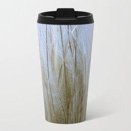 Feather Grass Metal Travel Mug
