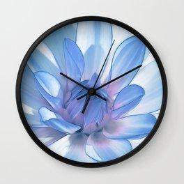 Dahlia blue 202 Wall Clock