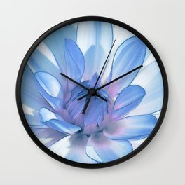 Dahlia blue 202 Wall Clock