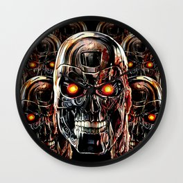 Silver Steel Skull Army painting iPhone 4 4s 5 5s 5c, pillow case, mugs and tshirt Wall Clock