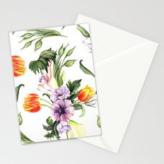 Watercolor spring floral pattern Stationery Cards