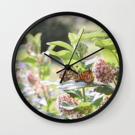 Butterflies in the Garden Wall Clock