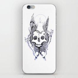 """caveira iluminada"" iPhone Skin"