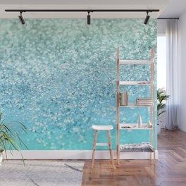 Seafoam Aqua Ocean MERMAID Girls Glitter #1 #shiny #decor #art #society6 Wall Mural