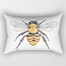 Watercolor Bee Rectangular Pillow