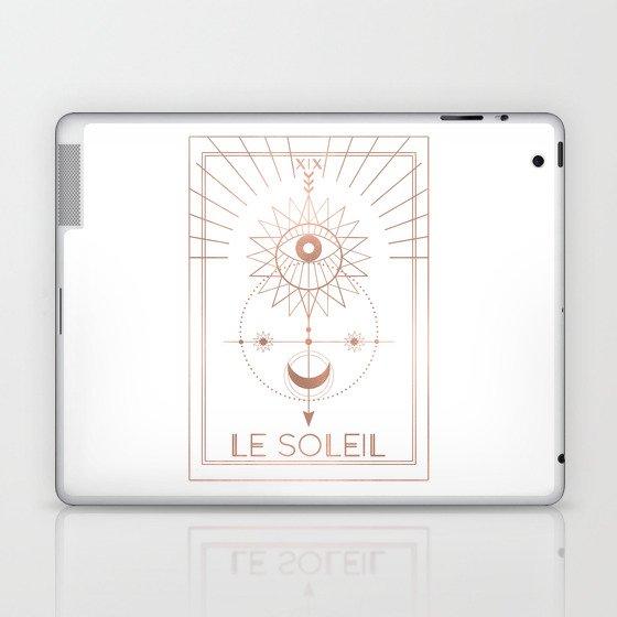 Le Soleil or The Sun Tarot White Edition Laptop & iPad Skin