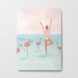 Big Flamingo Metal Print