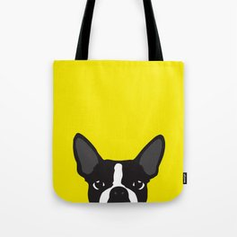 Boston Terrier Yellow Tote Bag