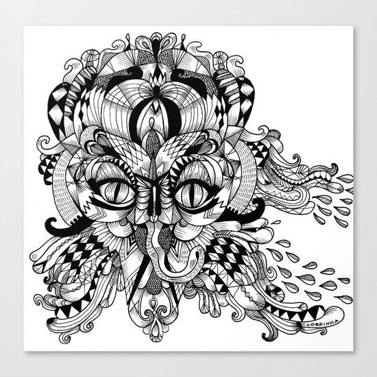 Mask Face Canvas Print