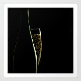 Jazz and champagne Art Print