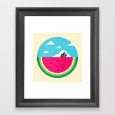 Watemelon Deep Framed Art Print