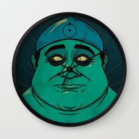 watchmen Wall Clocks featuring It's Always Sunny in Watchmen - Frank by Jessica On Paper