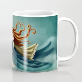 Thumbelina flying with a bird Coffee Mug