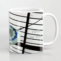 oscar wilde Mugs featuring Oscar Wilde #4 Thief of Time by bravo la fourmi