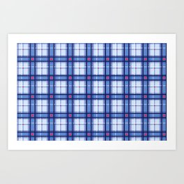 Blue Plaid Art Print