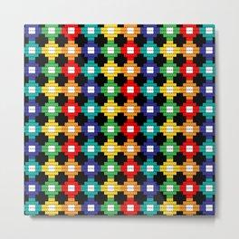 Geometric Beads Pattern Metal Print