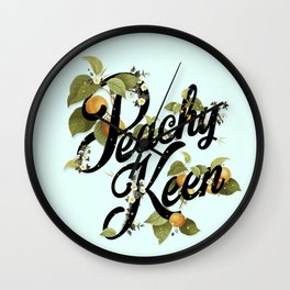 Peachy Keen : Mint Wall Clock