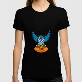 Great Horned Owl American Football Mascot T-shirt