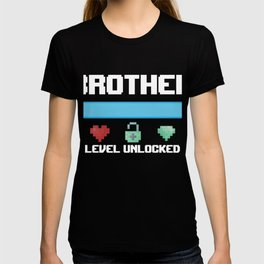 New Brother Gift Brother Level Unlocked for a Gamer T-shirt